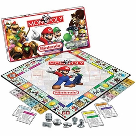Monopoly Board Game Set Nintendo Edition