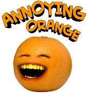 Annoying Orange 1 1/4 Inch Talking Plastic Figure Clip-On Whoa Orange