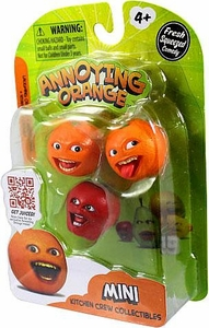 Annoying Orange Kitchen Crew Collectibles Mini Figure 3-Pack Laughing Orange, Midget Apple & Nyah Nyah Orange BLOWOUT SALE!