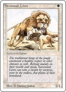 Magic the Gathering Revised Edition Single Card Rare Savannah Lions