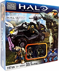 Halo Fest  Convention Exclusive Mega Bloks Set #99660 Halo CE UNSC Warthog