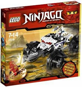 LEGO Ninjago Exclusive Set #2518 Nuckal's ATV [Kai Dragon Ninja Mini Figure & Spinner!]