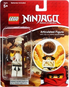 LEGO Ninjago Articulated Clip-On Figure with Battle Sound Sensei