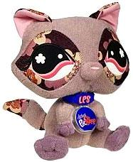 Littlest Pet Shop VIP Virtual Interactive Pet Plush Figure Raccoon