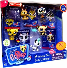 Littlest Pet Shop Online LPSO 5 Welcome Pets with Trading Cards