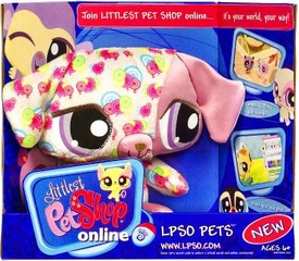 Littlest Pet Shop Online LPSO Web Game Plush Pet Dog {Version 1} [Pink Swirls]