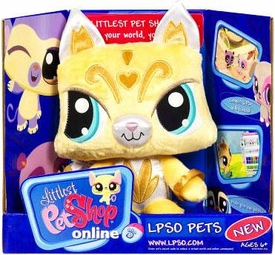 Littlest Pet Shop Online LPSO Web Game Plush Pet Kitty {Version 1} [Yellow]