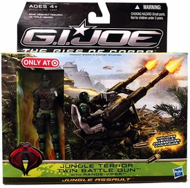 GI Joe Movie The Rise of Cobra Exclusive Jungle Terror Twin Battle Gun With Range Viper Action Figure