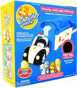 Zhu Zhu Pets Playset Police Car & Station[Hamster NOT Included!]