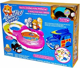 Zhu Zhu Pets Playset Scoodle's Deluxe Hamster House Starter Set [Includes Scoodles in Scuba Gear & Woody Wagon & Surfboard]