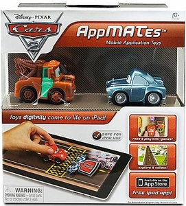Disney Pixar Cars 2 AppMates Mobile Application Toys 2-Pack Mater & Finn McMissile