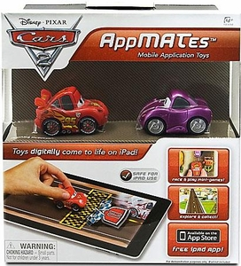 Disney Pixar Cars 2 AppMates Mobile Application Toys 2-Pack Lightning McQueen & Holley Shiftwell