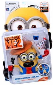 Despicable Me 2 Deluxe 4 Inch Action Figure Build-A-Minion Mr. Tim