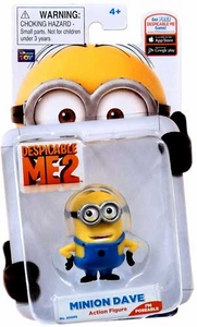 Despicable Me 2 Poseable 2 Inch Action Figure Minion Dave