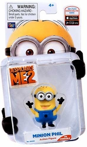 Despicable Me 2 Poseable 2 Inch Action Figure Minion Phil