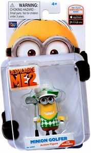 Despicable Me 2 Poseable 2 Inch Action Figure Minion Golfer