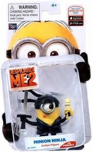 Despicable Me 2 Poseable 2 Inch Action Figure Minion Ninja