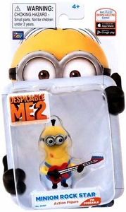 Despicable Me 2 Poseable 2 Inch Action Figure Minion Rock Star