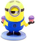Despicable Me 2 PVC 2 Inch LOOSE Mini Figure Stuart [Holding Cupcakes]