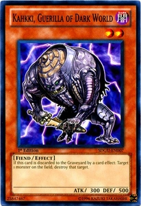YuGiOh 5D's Structure Deck Gates of the Underworld Single Card Common SDGU-EN007 Kahkki, Guerilla of Dark World