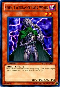YuGiOh 5D's Structure Deck Gates of the Underworld Single Card Common SDGU-EN008 Gren, Tactician of Dark World