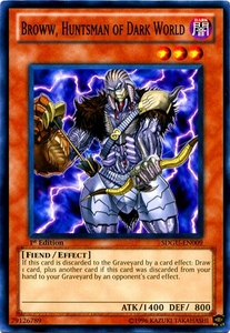 YuGiOh 5D's Structure Deck Gates of the Underworld Single Card Common SDGU-EN009 Broww, Huntsman of Dark World