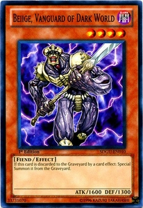 YuGiOh 5D's Structure Deck Gates of the Underworld Single Card Common SDGU-EN010 Beiige, Vanguard of Dark World