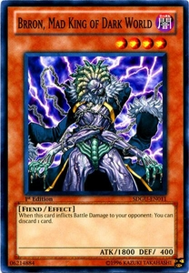 YuGiOh 5D's Structure Deck Gates of the Underworld Single Card Common SDGU-EN011 Brron, Mad King of Dark World