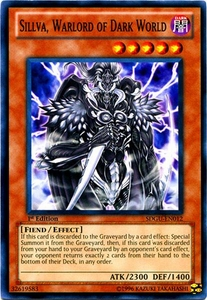 YuGiOh 5D's Structure Deck Gates of the Underworld Single Card Common SDGU-EN012 Sillva, Warlord of Dark World