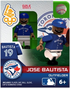 OYO Baseball MLB Generation 2 Building Brick Minifigure Jose Bautista [Toronto Blue Jays]