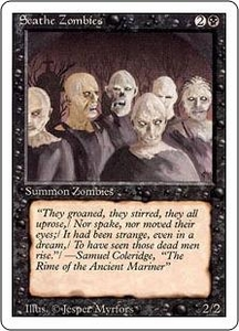 Magic the Gathering Revised Edition Single Card Common Scathe Zombies