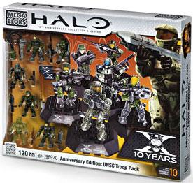 Halo Mega Bloks Exclusive Set #96970 Anniversary Edition: UNSC Troop Pack