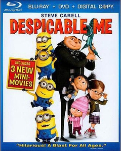 Despicable Me Blu-ray + DVD + Digital Copy [Includes 3 New Mini-Movies!]