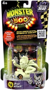 Monster 500 Trading Card & Small Car Figure Drac Attack [Glow-in-the-Dark Variant]