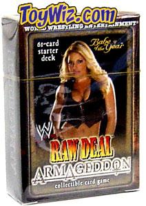 WWE Raw Deal Card Game Armageddon Starter Deck Babe of the Year Trish Stratus