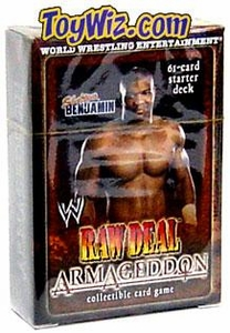 WWE Raw Deal Card Game Armageddon Starter Deck Shelton Benjamin