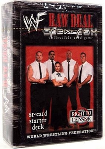 WWE Raw Deal Backlash Starter Deck RTC (Right To Censor)