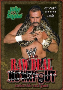 WWE Raw Deal No Way Out Starter Deck Jake the Snake