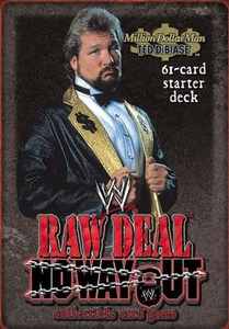 WWE Raw Deal No Way Out Starter Deck Million Dollar Man Ted Dibiase