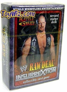 WWE Raw Deal InsurreXtion Starter Deck The Rattlesnake Stone Cold Steve Austin