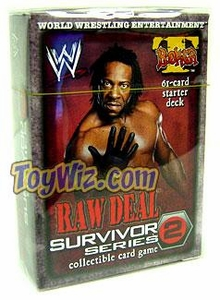 WWE Raw Deal Survivor Series 2 Starter Deck Booker T