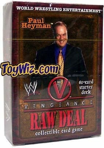 WWE Raw Deal Vengeance Starter Deck Paul Heyman