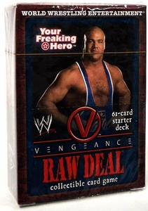 WWE Raw Deal Vengeance Starter Deck Your Freaking Hero Kurt Angle