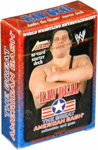 WWE Raw Deal Card Game The Great American Bash Starter Deck Andre the Giant