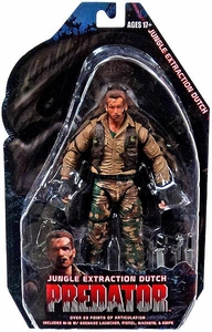 NECA Predator Movie Series 8 Action Figure Jungle Extraction Dutch [Arnold Schwarzengger]
