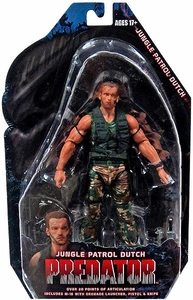 NECA Predator Movie Series 8 Action Figure Jungle Patrol Dutch /b> [Arnold Schwarzengger]