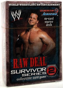 WWE Raw Deal Survivor Series 2 Starter Deck Chris Jericho