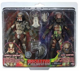 NECA Predator Exclusive Action Figure 2-Pack Battle Damage City Hunter & Jungle Hunter