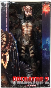 NECA Predator 2 Quarter Scale Action Figure Unmasked City Hunter Predator