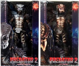 NECA Predator 2 Set of Both Quarter Scale Action Figures [Guardian & Unmasked City Hunter]